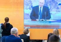 Президент РФ Владимир Путин в ходе ежегодной пресс-конференции прокомментировал ситуацию в Белоруссии