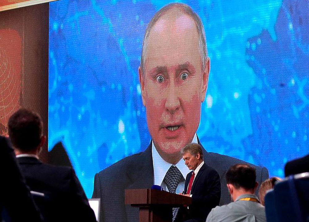 Эмоции Путина на пресс-конференции: гигантский президент