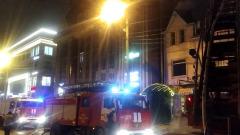 Ночью в Краснодаре произошёл крупный пожар в отеле не улице Красных Партизан