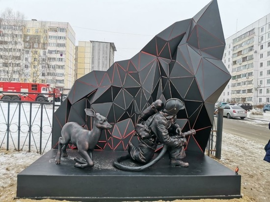 Памятник пожарным открыли в Выксе
