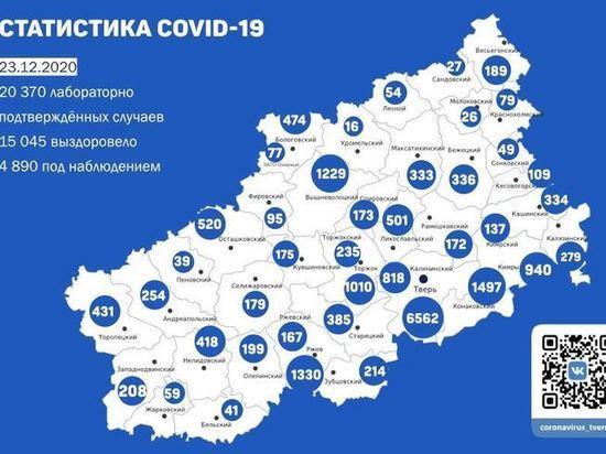 Новые случаи коронавируса зарегистрировали в 33 районах Тверской области