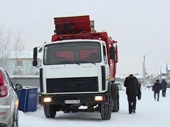 В Муравленко коммунальщики не вывозят мусор из-за мороза