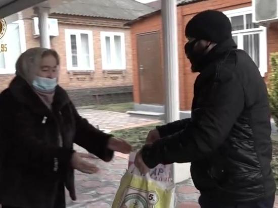 Фонд Кадырова раздал продукты жителям Чечни перед Новым годом