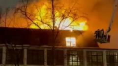 В подмосковных Люберцах сгорел ресторан