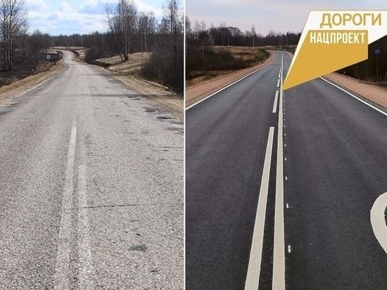 12 км дороги Пушкинские Горы - Локня отремонтировали