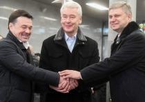 Андрей Воробьёв, Сергей Собянин и Олег Белозёров открыли после реконструкции станцию МЦД-2 в Подольске