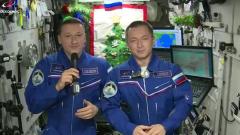 Космонавты с орбиты поздравили россиян с Новым годом