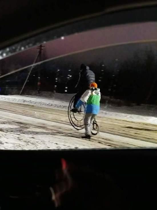 О необычной встрече в Новогоднюю ночь рассказали в соцсетях жители поселка Красное-на-Волге в Костромской области