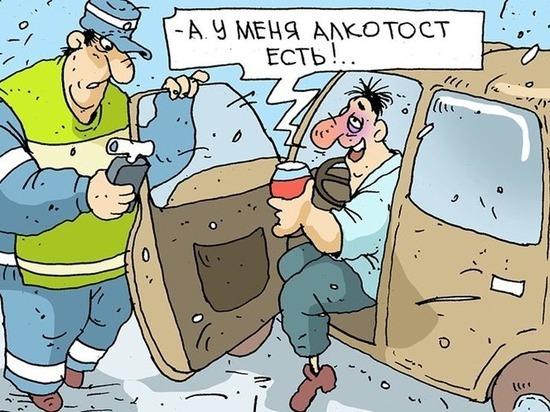На дороге под Тверью полицейские остановили пьяного водителя