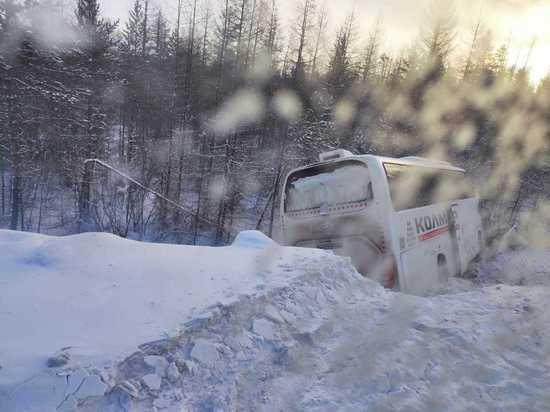 В Нерюнгринском районе Якутии произошло ДТП с пассажирским автобусом