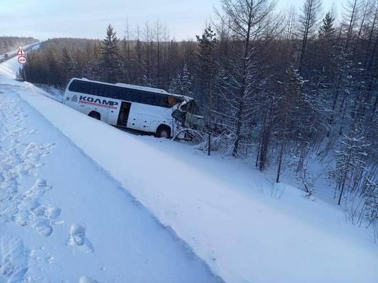 ДТП с автобусом в Нерюнгринском районе произошло из-за столкновения с грузовиком