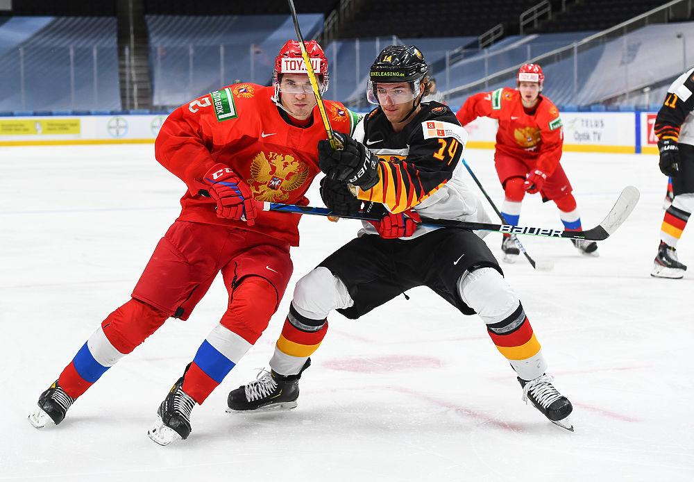 Россия вышла в полуфинал хоккейного МЧМ: фотообзор матча с Германией