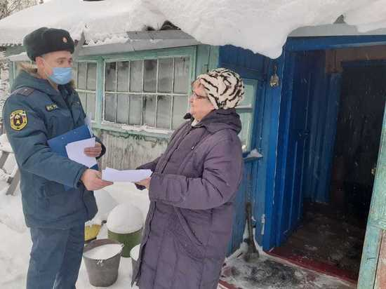 В Алтайском крае пожарные инспекторы проверяют дома с печным отоплением