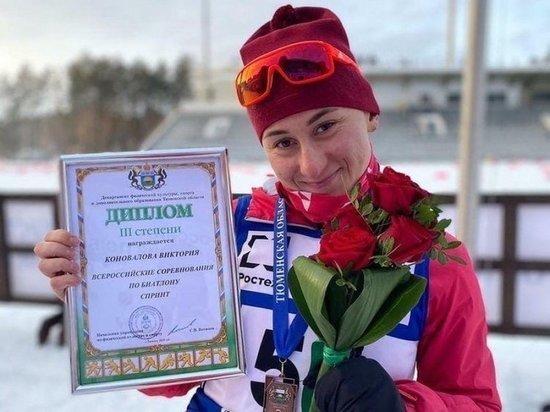 Биатлонистку Викторию Коновалову дисквалифицировали на 4 года за допинг