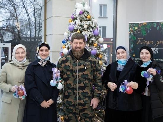 Кадыров показал праздник с детьми и внуками