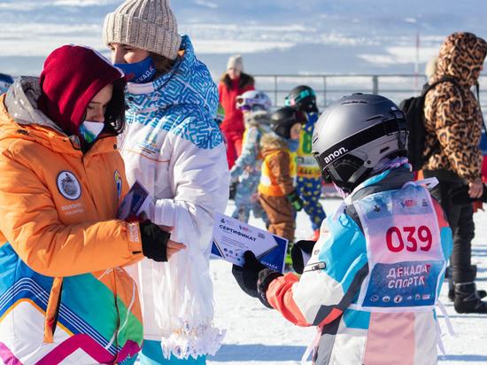 На сахалинском «Горном воздухе» в мороз соревновались сноубордисты