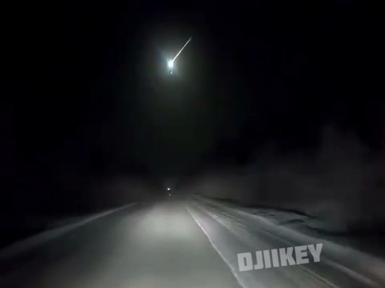 Жители Якутии стали очевидцами падения метеорита