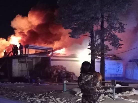 На окраине Ноябрьска сгорел магазин «Монетка»