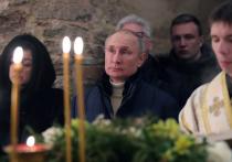Путин посетил рождественскую службу без медицинской маски