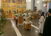 Во всех православных храмах Тувы отметили  светлое Рождество Христово