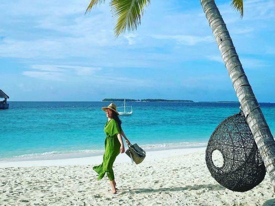 Ирина Дубцова проводит новогодние праздники на Мальдивах