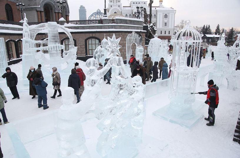 Подвел итоги XV Международный фестиваль ледовой скульптуры «Вифлеемская звезда»