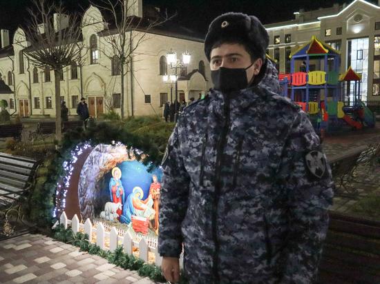 Росвгардейцы охраняли общественный порядок в СКФО на Рождество