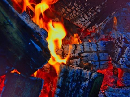 Здание частной гостиницы сгорело в селе под Томском