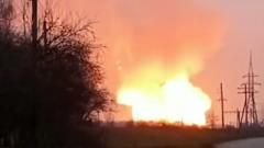 На Украине рванул магистральный газопровод: кадры пожара