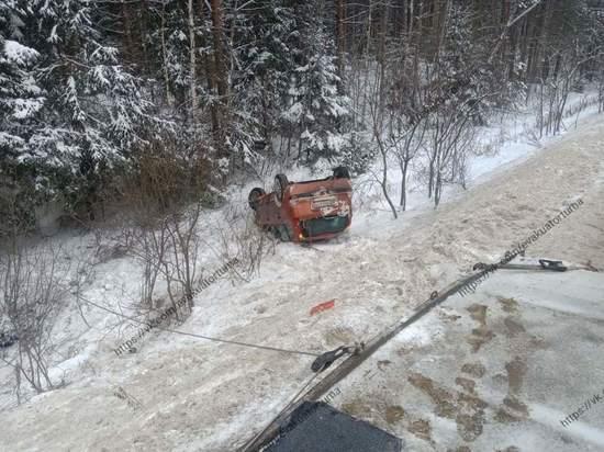 В Клепиковском районе Рязанской области машина улетела в кювет