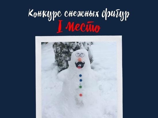 В калужском конкурсе снежных фигур победу одержали дети