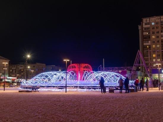 Фонтан с подсветкой будет работать в Дзержинске до весны