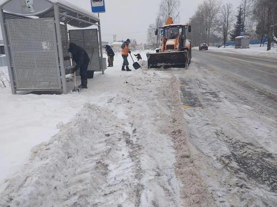 На свалку Калуги отправлено еще 980 кубометров снега