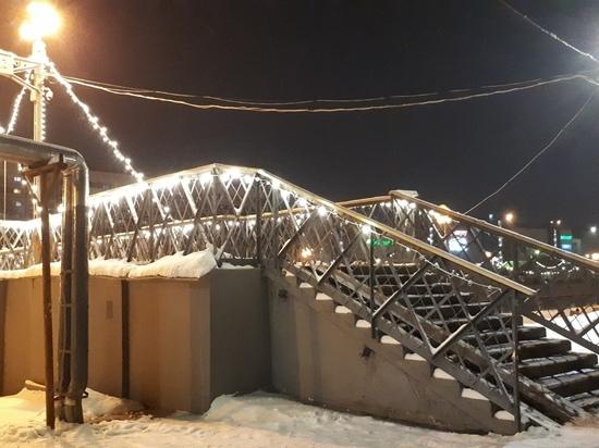 Новый год удался – с праздничного моста в Иванове украли пятьдесят ламп