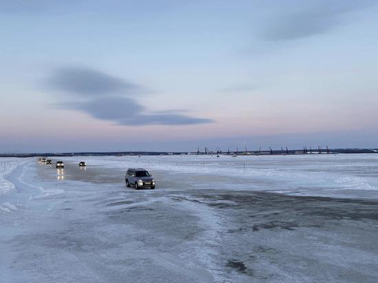 На ледовой переправе между Салехардом и Лабытнанги повысили тоннаж