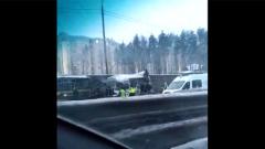 Вертолет прилетел на Новорижское шоссе для спасения пострадавших