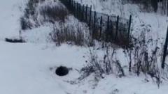 Парень погиб при катании на ледянке: кадры смертельной горки