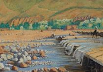 """Картину Уинстона Черчилля «Сцена в Марракеше» (""""Scene at Marrakech"""") выставили на аукцион Christie's с оценкой почти в 500 тысяч фунтов стерлингов, или более 677 тысяч долларов"""