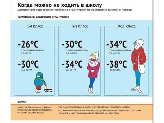 Ярославским школьникам разрешили не ходить в школу в морозы