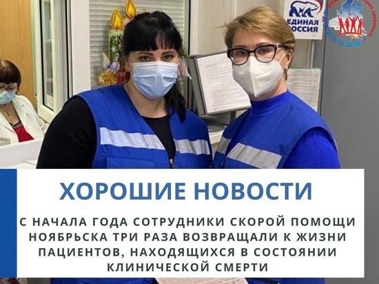 Медики «скорой» Ноябрьска с начала года спасли троих пациентов с остановкой сердца