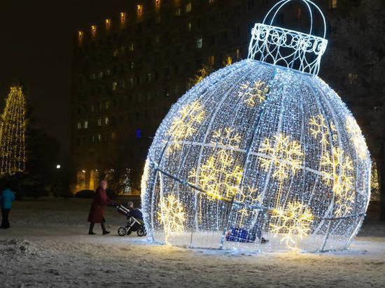 На следующей неделе в Архангельске уберут новогоднюю иллюминацию