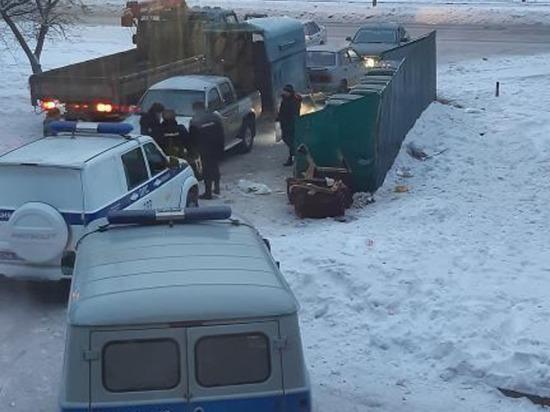 Хозяин замёрзшей насмерть на мусорке коровы накинулся на людей с топором в Кузбассе