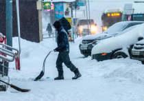 В областном центре на протяжении двух дней не прекращал идти снег