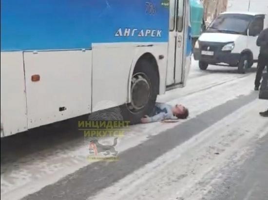 34-летний пьяный мужчина попал под колёса автобуса в Ангарске