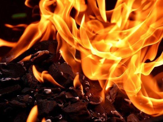 Жилой дом сгорел в Гдове из-за короткого замыкания электропроводки