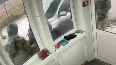 Попытка украинского водителя прорваться в Крым попала на видео