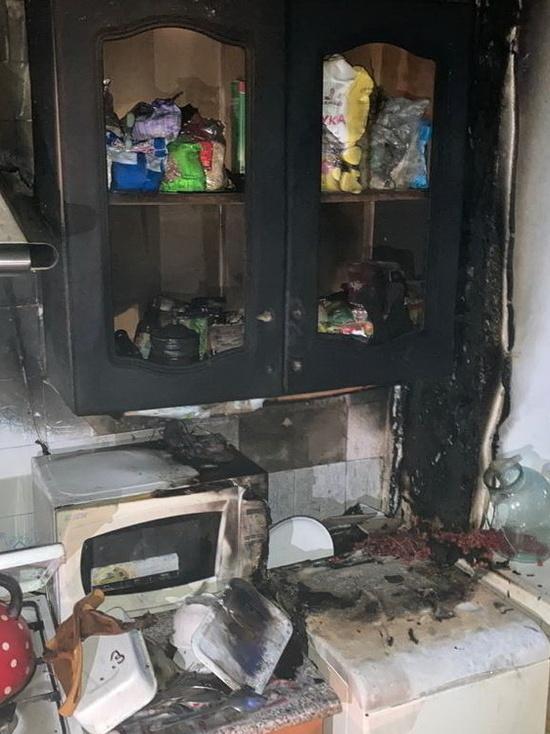 Стиральная машина подожгла кухню у смолянки