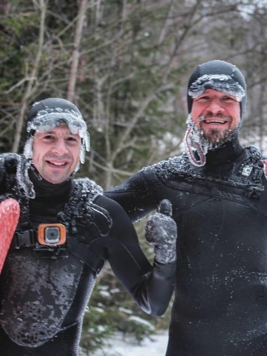 Петербургские серферы покорили волны зимней Ладоги