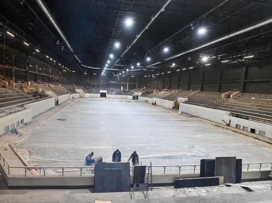Во Дворце спорта Калуги готовятся к заливке льда