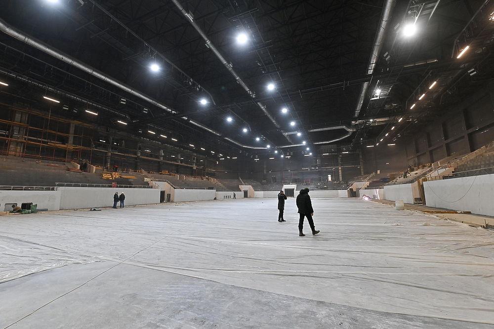 В Калуге показали ледовую арену возводимого Дворца спорта